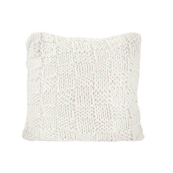 Picture of Chess Knit Euro Pillow - Natural