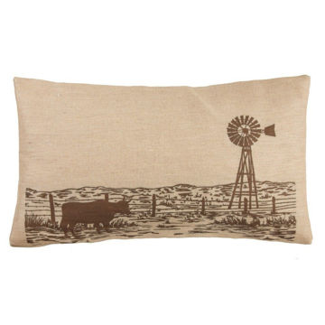 Picture of Windmill Burlap Pillow