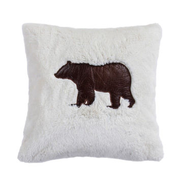 Picture of Aztec Embroidered Bear Pillow