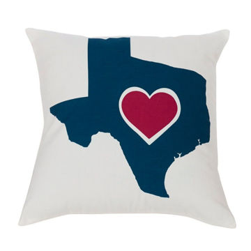 Picture of Texas Themed Heart Pillow