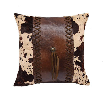 Picture of Faux Leather Concho Pillow