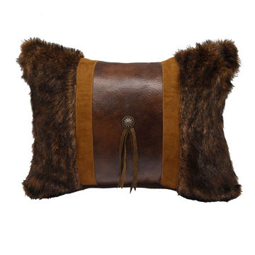 Picture of Faux Fur Concho Pillow