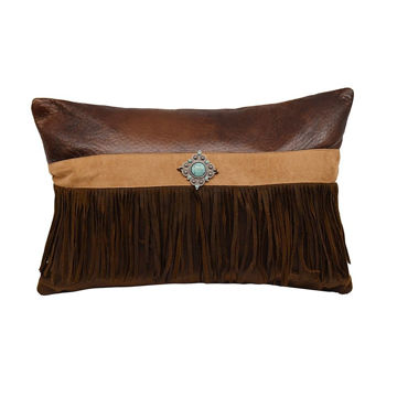 Picture of Faux Suede Concho Pillow