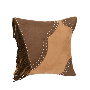 Picture of Pieced Faux Leather Pillow