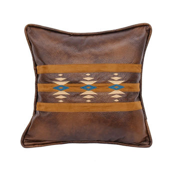 Picture of Southwestern Faux Leather Pillow