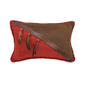 Picture of Half Faux Leather Pillow