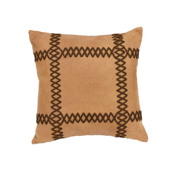 Picture of Faux Leather Laced Pillow