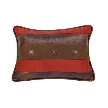 Picture of Faux Leather Stripes Pillow
