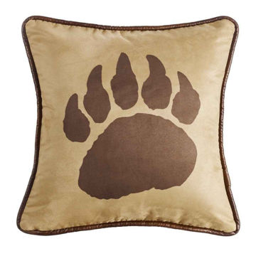 Picture of Faux Suede Bear Claw Pillow