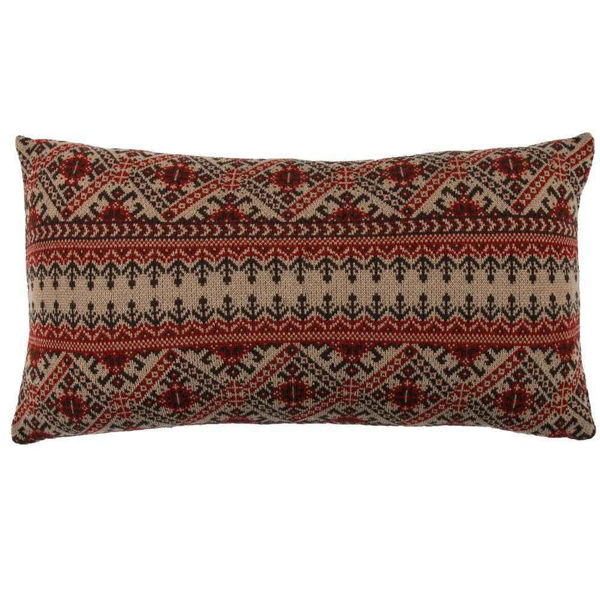 Picture of Fair Isle Knit Body Pillow - Brown