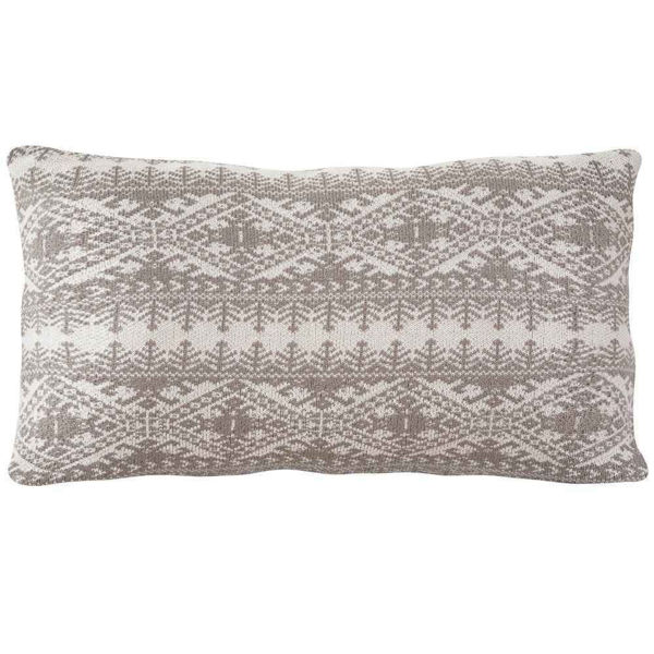Picture of Fair Isle Knit Body Pillow - Taupe