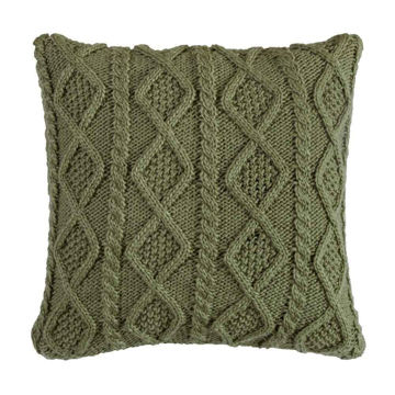 Picture of Cable Knit Pillow - Green