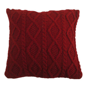Picture of Cable Knit Pillow - Red