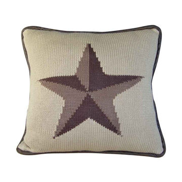 Picture of Cable KnitKnitted Star Pillow
