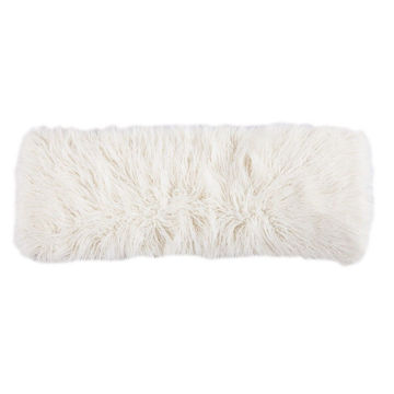 Picture of Mangolian Faux Fur Pillow - White