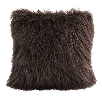 Picture of Mongolian Faux Fur Pillow - Brown
