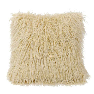 Picture of Mongolian Faux Fur Pillow - Cream