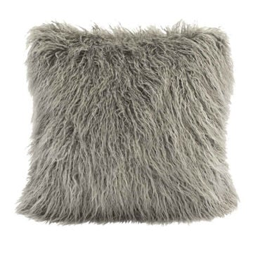 Picture of Mongolian Faux Fur Pillow - Gray
