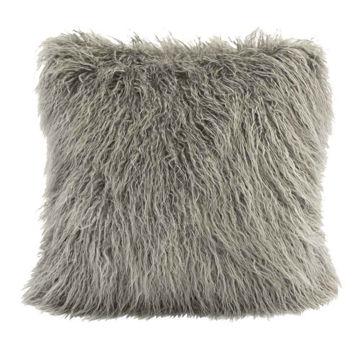 Picture of Mongolian Faux Fur Pillow - Gray