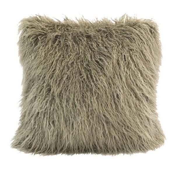 Picture of Mongolian Faux Fur Pillow - Tan