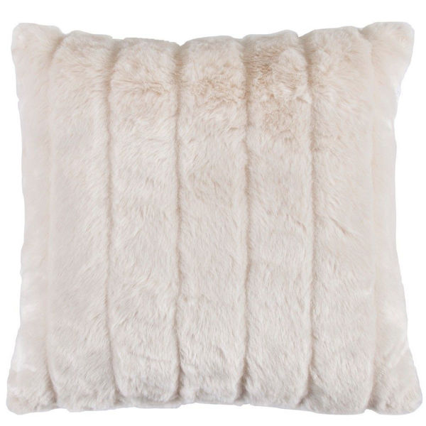 Picture of Snow Leopard Oversized White Mink Pillow