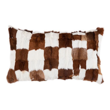 Picture of Goat Patched Hide Pillow