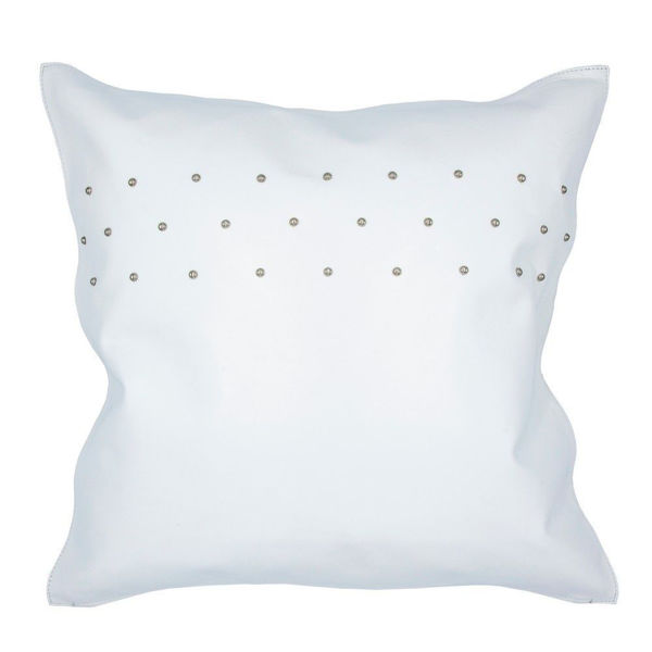 Picture of Genuine Leather Contemporary Studded Pillow