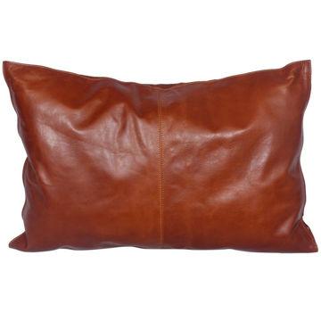 Picture of Genuine Leather Buckskin Lumbar Pillow