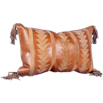 Picture of Genuine Leather Arrow Pillow