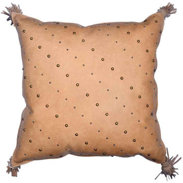 Picture of Genuine Leather Studded Pillow
