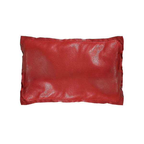 Picture of Genuine Leather Red Leather Pillow