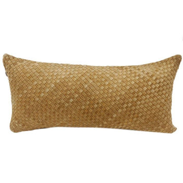 Picture of Woven Suede Lumbar Pillow