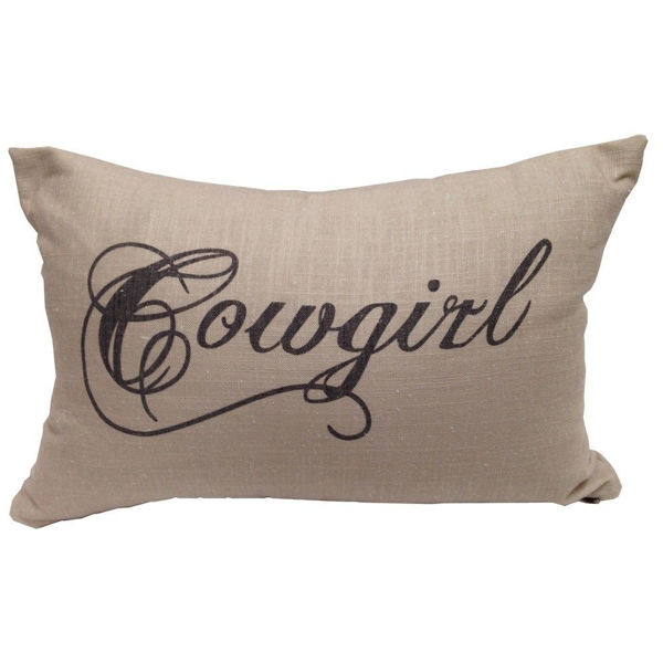Picture of Cowgirl Linen Pillow
