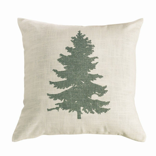 Picture of Pinecone Green Tree Pillow