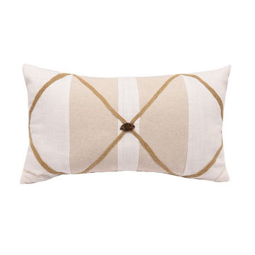 Picture of Button Linen Pillow