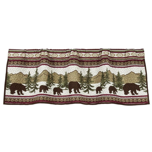 Picture of Bear Trail Quilted Valance
