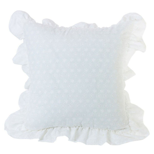 Picture of Salado Ruffled Flange Eyelet Pillow