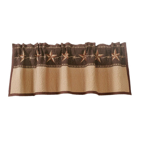 Picture of Rustic Star Ranch Quilted Valance