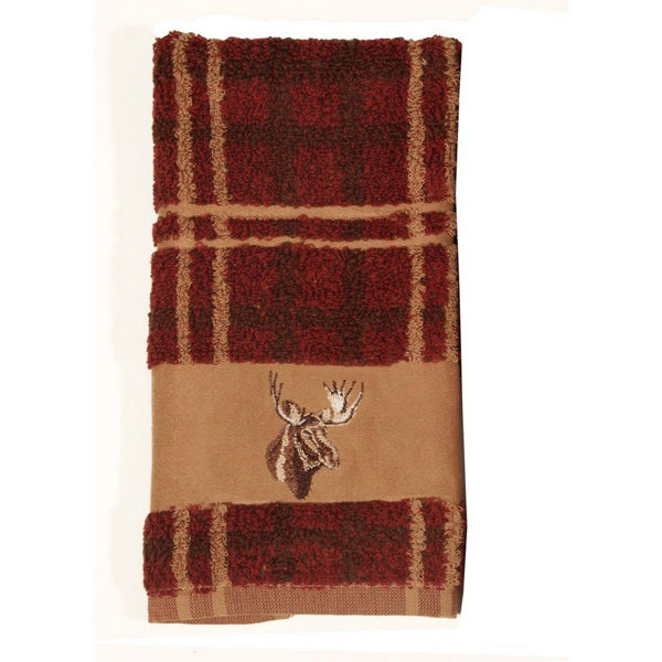 Picture of Embroidered Moose Towel Set