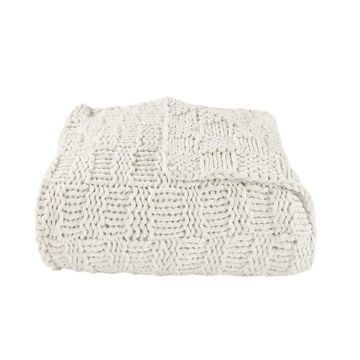 Picture of Chess Knit Throw - Natural