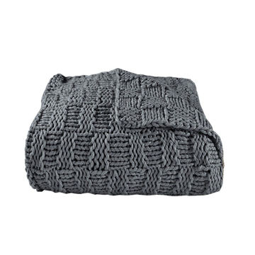 Picture of Chess Knit Throw - Slate