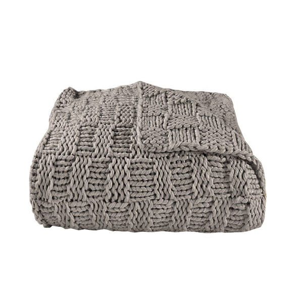 Picture of Chess Knit Throw - Taupe