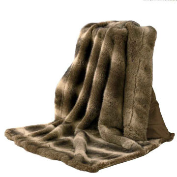 Picture of Faux Fur Wolf Throw