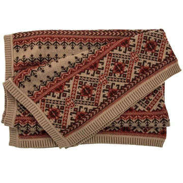 Picture of Fair Isle Knit Throw - Brown