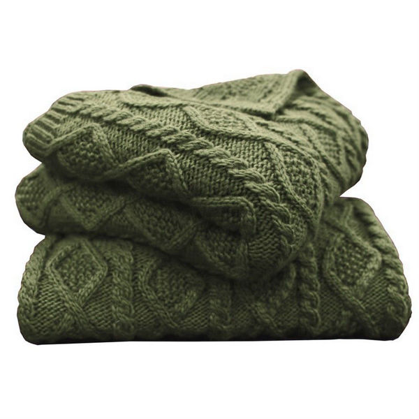 Picture of Cable Knit Throw - Green