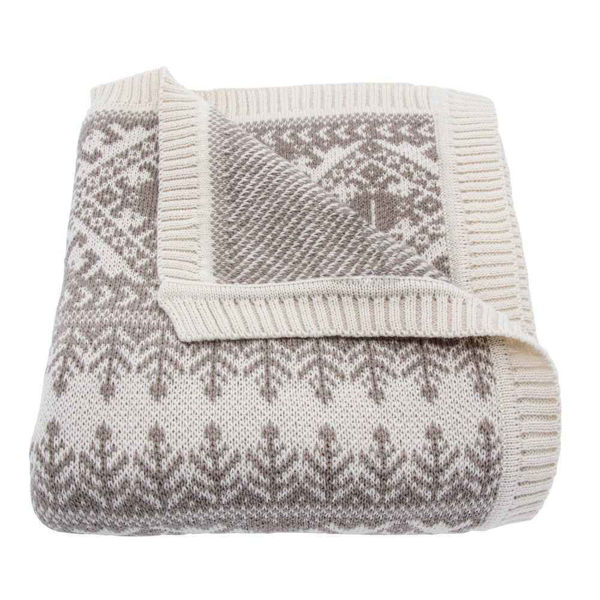Picture of Fair Isle Knit Throw - Taupe