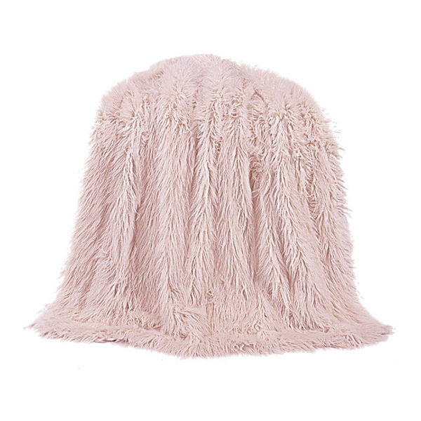 Picture of Mongolian Fur Throw - Blush