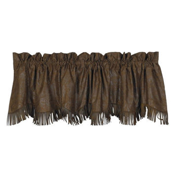 Picture of Chocolate Tooled Leather Valance