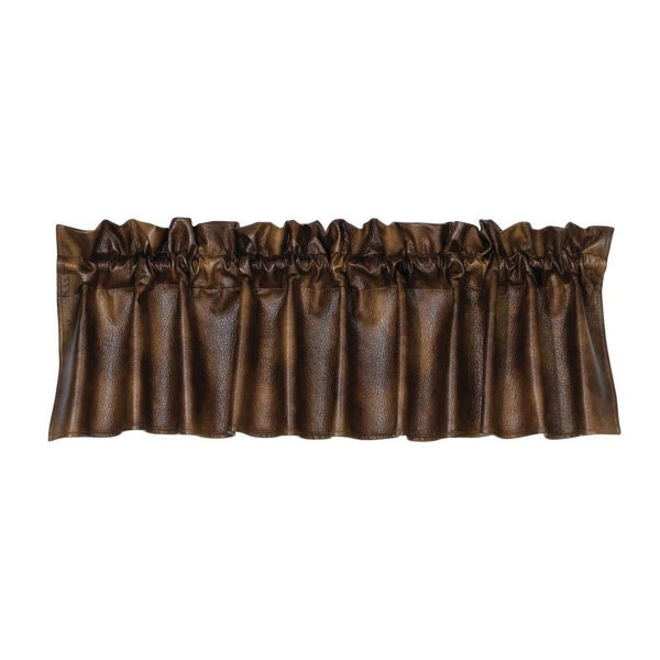 Picture of Brown Faux Leather Valance