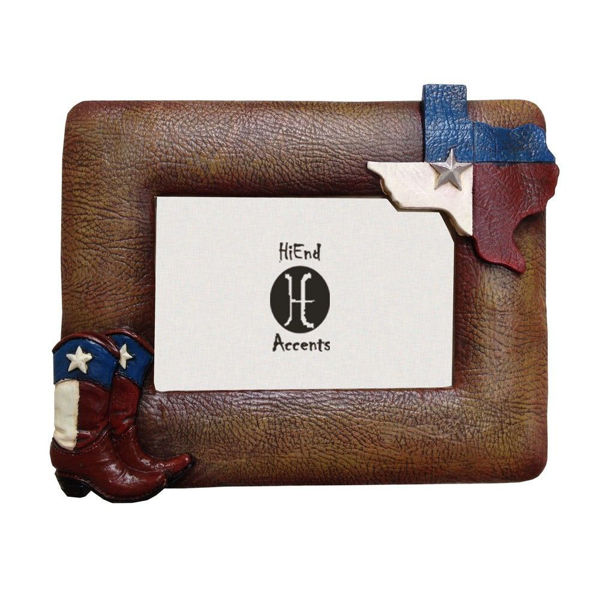 Picture of Texas Themed Flag and Boots Frame